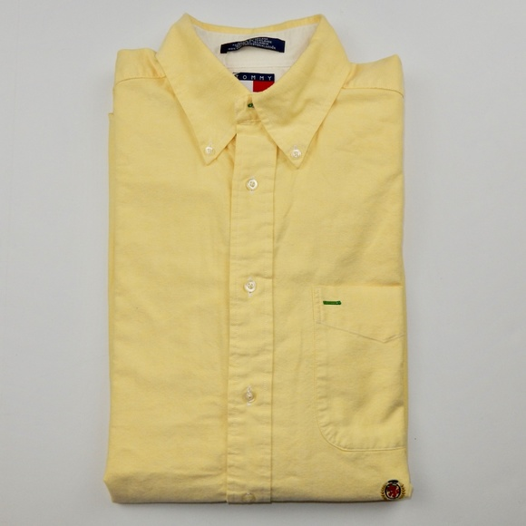50dacba2a Tommy Hilfiger Shirts | Button Front Shirt Medium Yellow | Poshmark